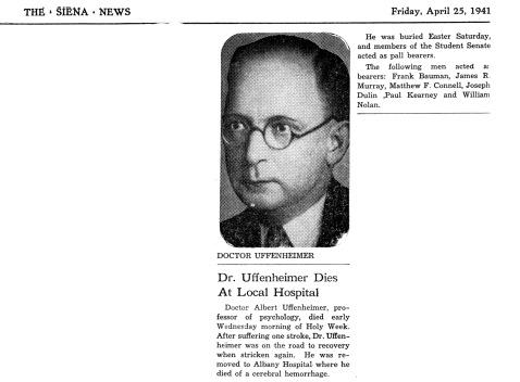 Uffenheimer Obit Siena News 25 Apr 1941