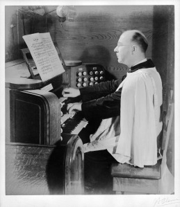 T. Frederick H. Candlyn at St. Paul's organ.