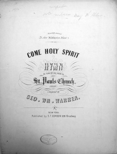 Come Holy Spirit, by George William Warren