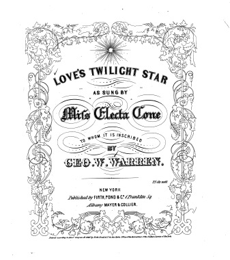 Love's Twilight Star, by George William Warren