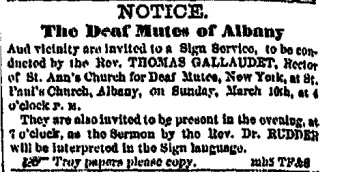 Albany Evening Journal 9 Mar 1861