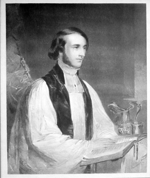 Wm. Ingraham Kip at St. Paul's altar (from an 1847 portrait by William Tolman Carlton)