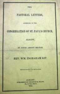 Cover, Kip Pastoral Letters to the Congregation of St. Paul's Church (1845)