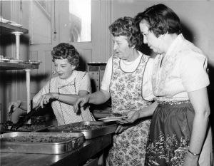 Christmas Bazaar, December 1961: in the kitchen