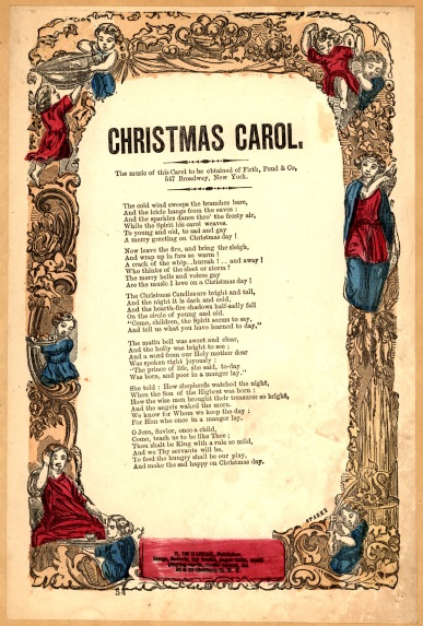 Christmas Carol Song Sheet (courtesy Library of Congress)