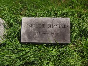 Josephine Chandler's Tombstone