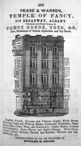 Pease & Warren advertisement, 1853-54 Albany Directory