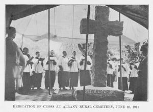 Dedication of Cross in St. Paul's Lot, 1911