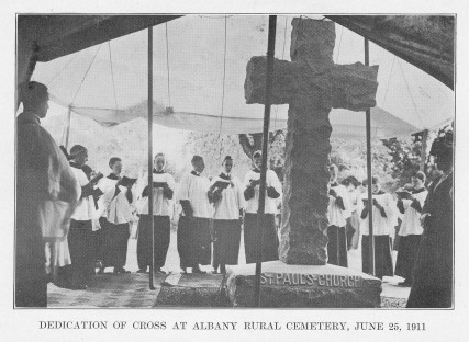 Dedication of Cross in St. Paul's Lot, 1911