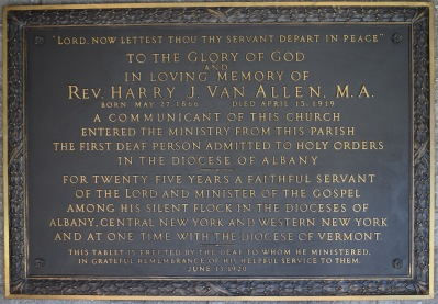 Harry Van Allen Memorial Plaque