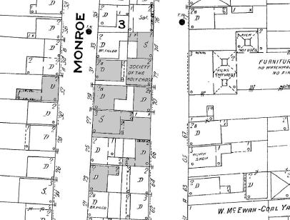 Society of the Holy Cross housing (Sanborn map, 1908)