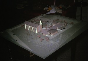 Architect's model, Hackett Blvd Church from the northeast