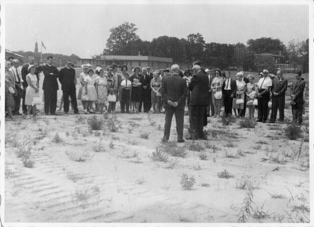 Groundbreaking at Hackett Boulevard, 26 July 1964