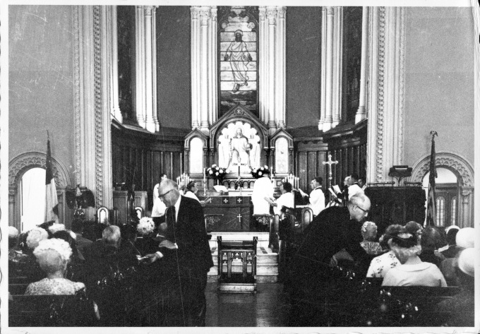 Service in the Lancaster Street church