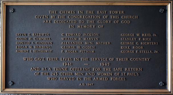 Memorial plaque for World War II Dead