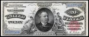 Manning Diamond Back $20 Silver Certificate