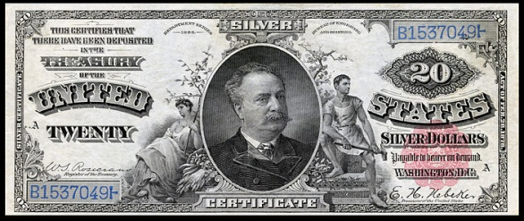Manning Diamond Back $20 Silver Certificate