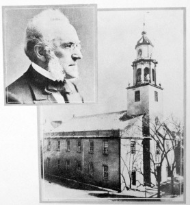 First Congregational Church and its minister, Ray Palmer (Albany Public Library Pruyn Collection)