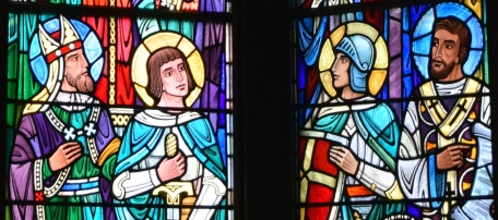 Te Deum Laudamus: Augustine of Canterbury, Joan of Arc, Saint Chrysostom and Saint George
