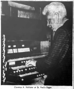 Clarence Hollister at St. Paul's Organ