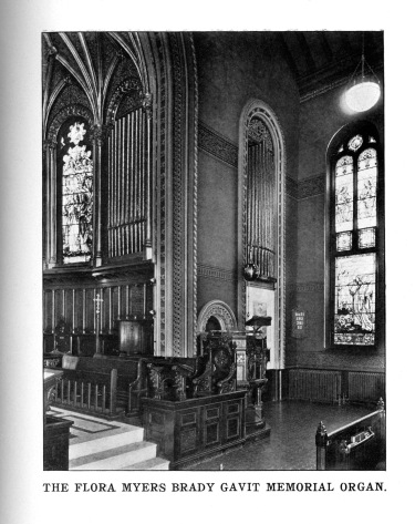 The Flora Myers Brady Gavit Memorial Organ