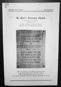 Program, Reopening of Rebuilt and Enlarge Gavit Organ 1940