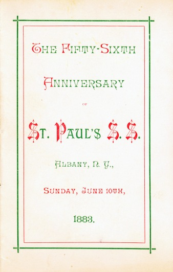 Sunday School Song Book 56th Anniversary (1883)
