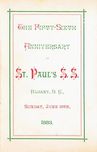 Sunday School Song Book 56th Anniversary (1883)