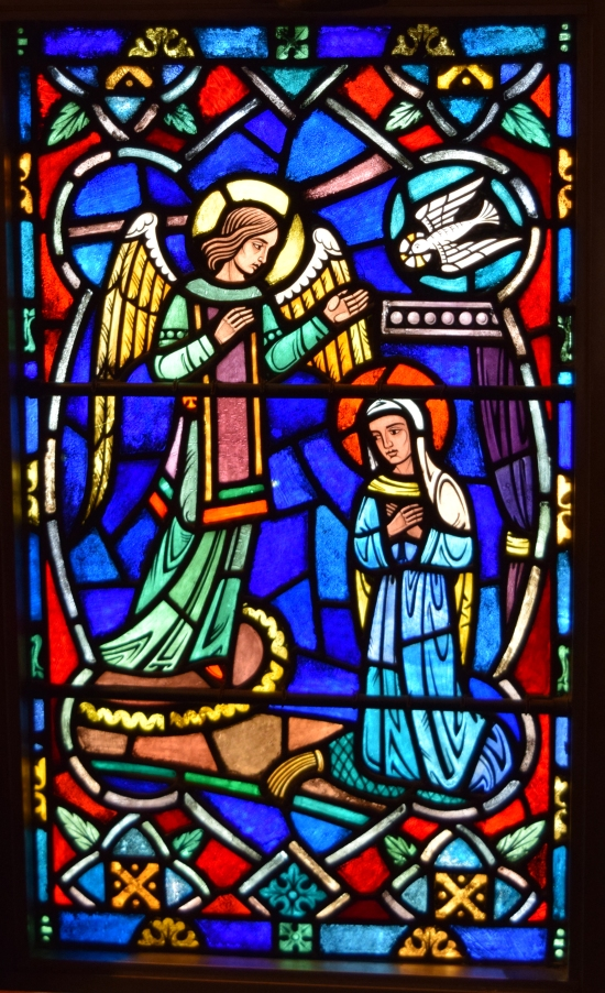 The Annunciation: lower panel of the Donald Shore Candlyn window