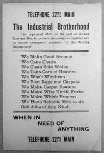 Albany Industrial Brotherhood Flyer, page 1 (credit: NYS Manuscripts and Special Collections)