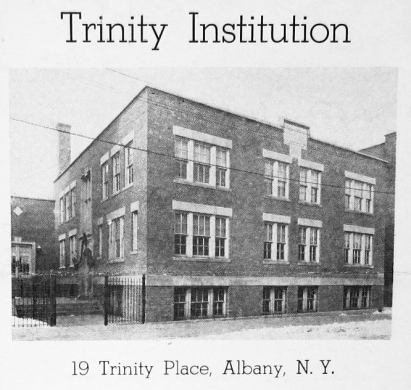 Trinity Institution in 1937 (credit: Pruyn Collection, Albany Public Library)