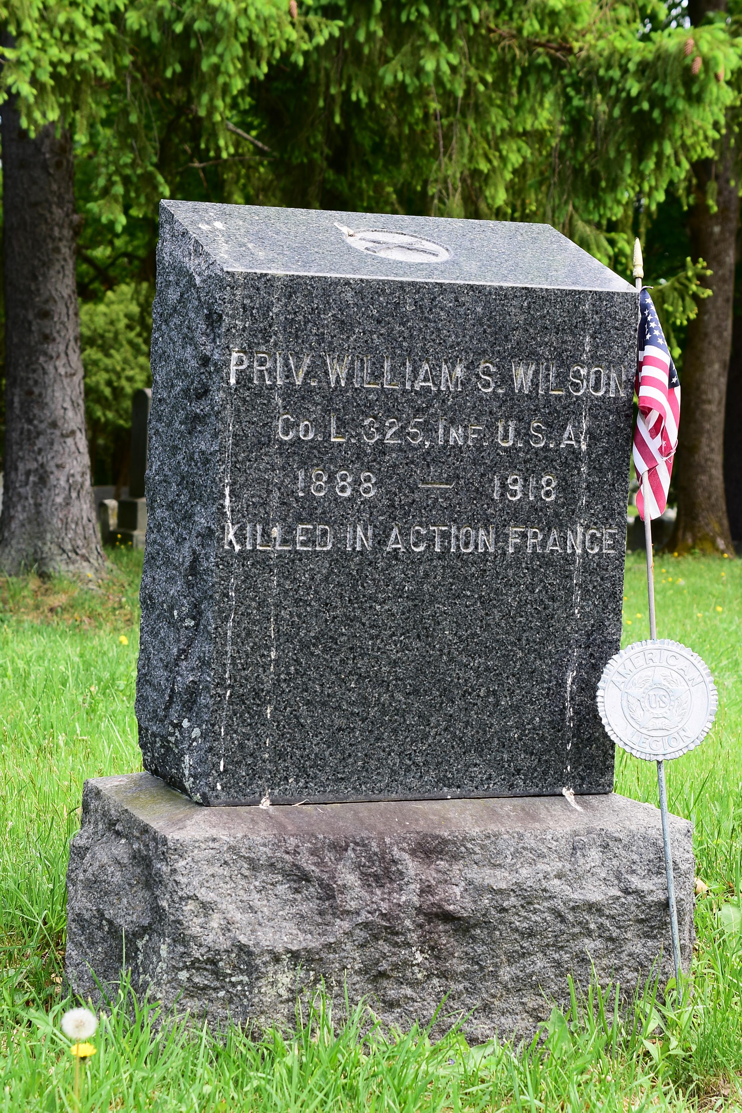 William S Wilson Tombston ARC