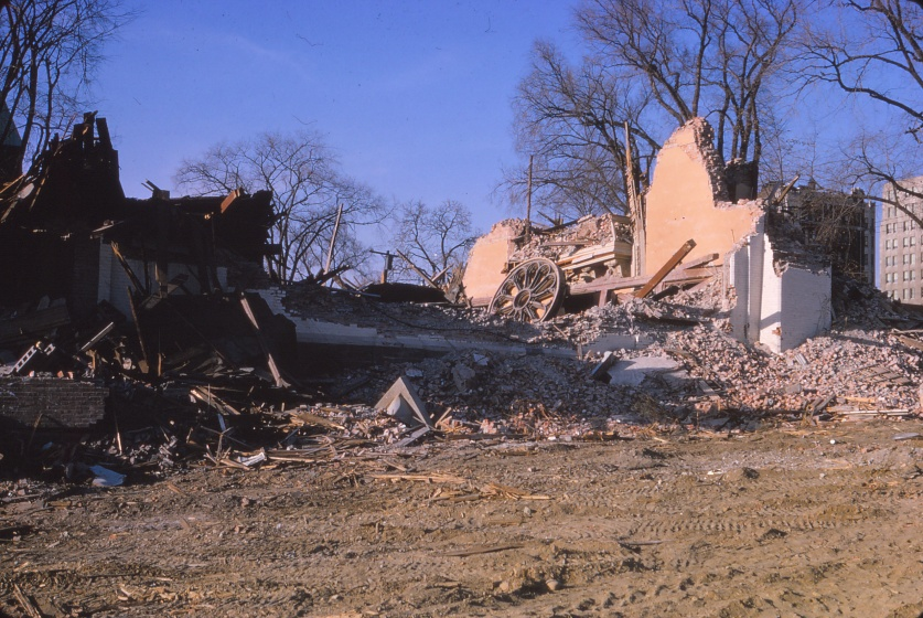 Lancaster Street facade after demolition