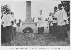 Memorial Service at the Grave of J. Livingston Reese, 25 Jun 1911