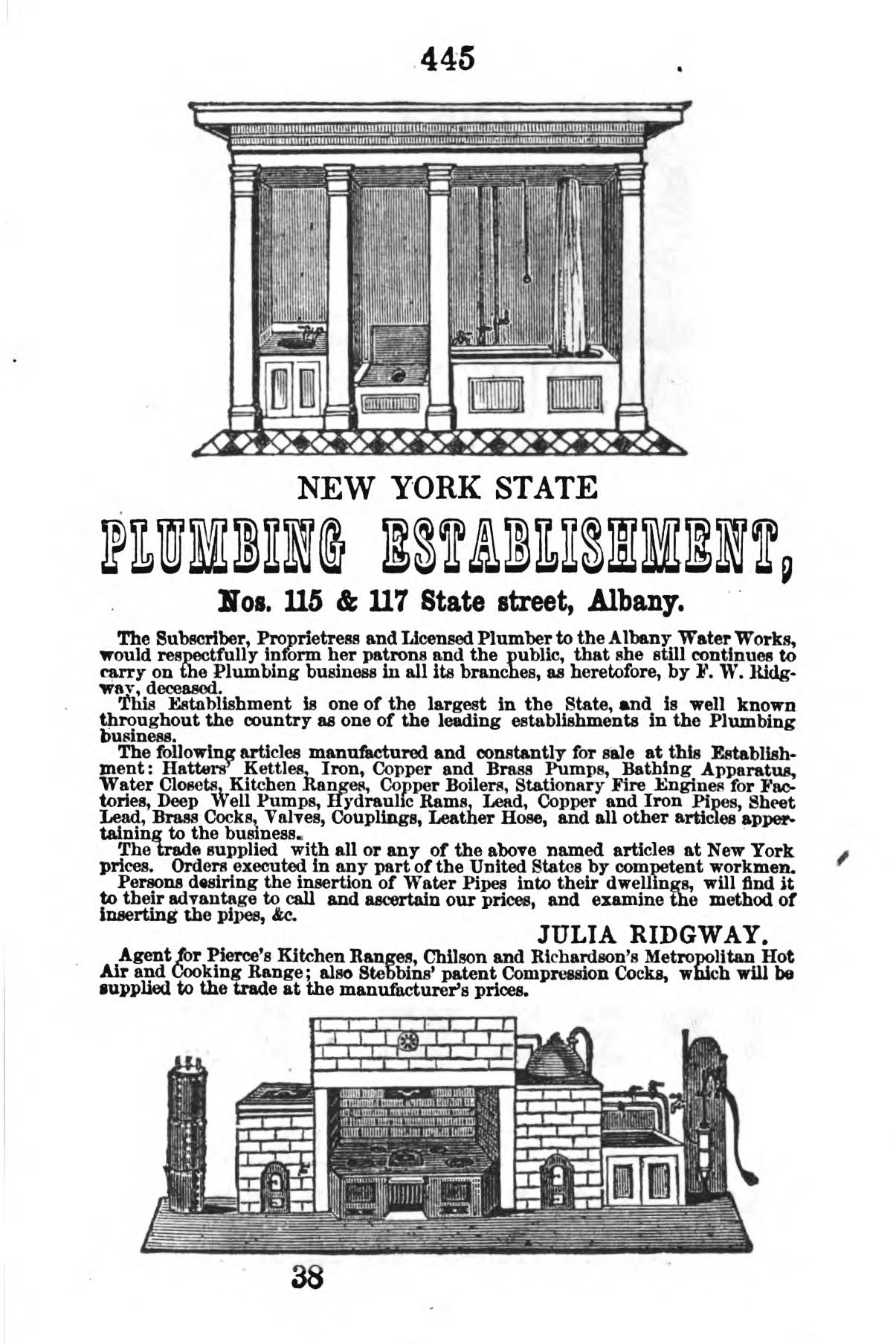 Munsell's Directory Albany 1853 page 445